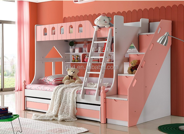 Etagenbett Für Mädchen : Rosa kinder etagenbett mädchen doppelbett blatt prinzessin bett