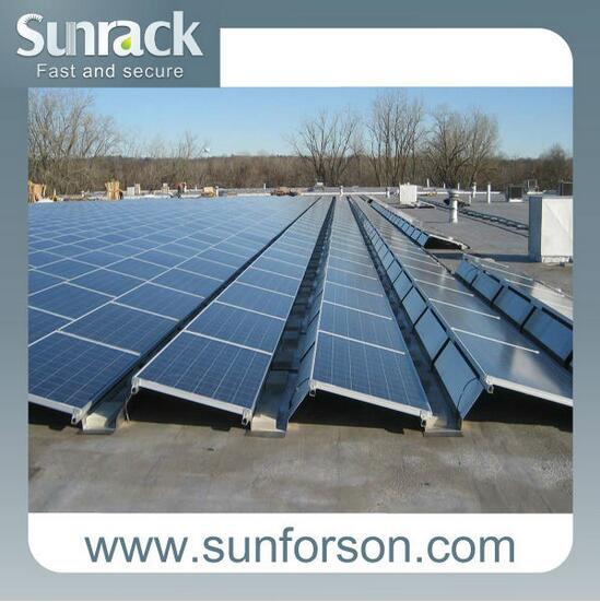 Pannello Solare Tetto Auto : Zavorra fissa tetto piano di montaggio pannello solare