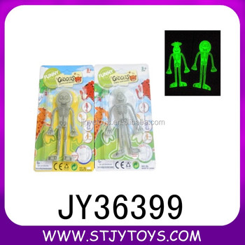 pvc halloween toys glow in the dark ghost toy