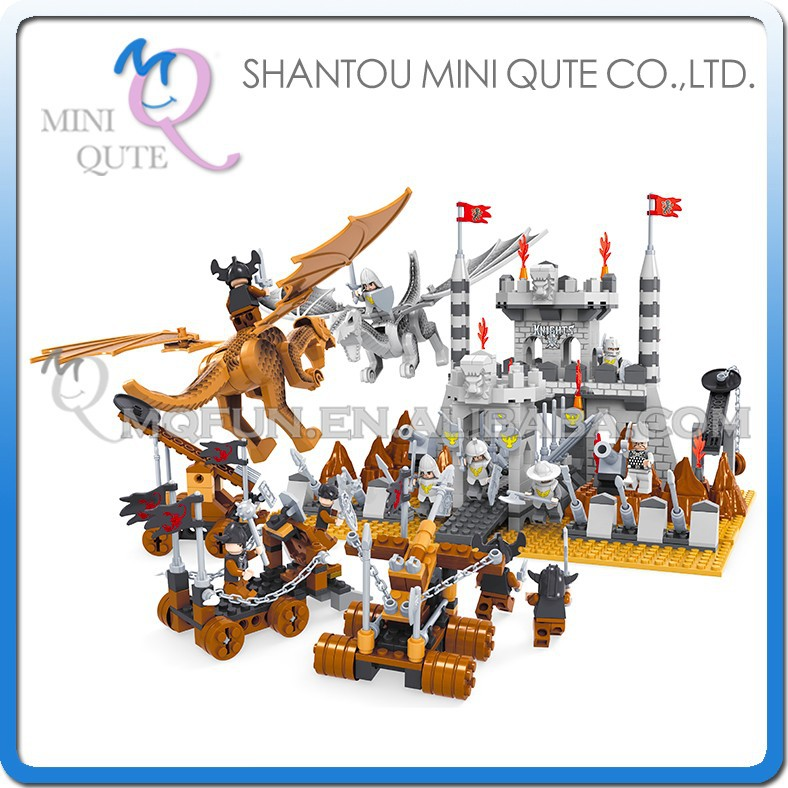 Mini Qute DIY boy Magic World old castle Fly Dragon monster action figure plastic building block brick educational toy NO.27001