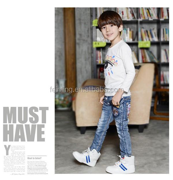 9072e651b New Arrival fashion cool denim kids waist dtretch boys pants Elastic Jeans  boys