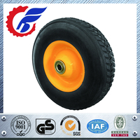 High quality flat free wheelbarrow tire pu foam tire 3.50-8 Polyurethane foam wheel 4.80/4.00-8