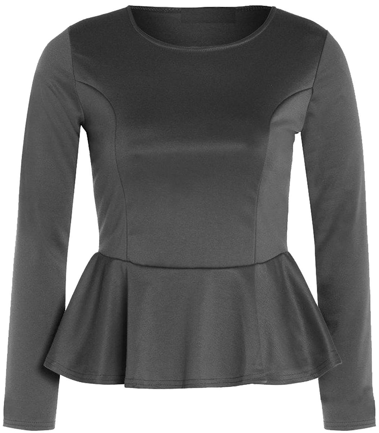 NEW LADIES PEPLUM SLEEVELESS SKATER TOP WOMENS FRILL PEPLUM FLARED TOP 8-26