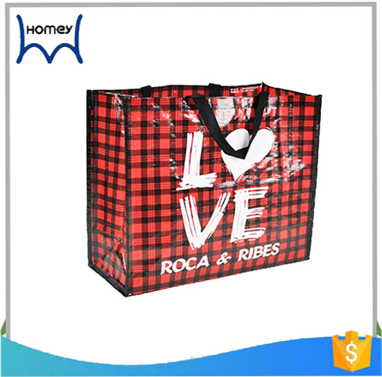Promotional classic fashion pp woven tote shopping bag