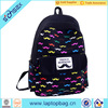 Wholesale OEM custom colorful canvas school backpack bags