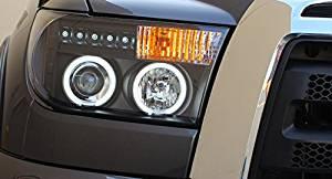 CPW (tm) 2007-2013 Tundra Dual Halo Black Projector Headlights Left + Right 07 08 09 10 11 12 13