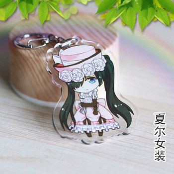 Kuroshitsuji Cartoon Cosplay Acrylic Keychain Black Butler Fashion Cute Anime Pendant Key Ring Gift