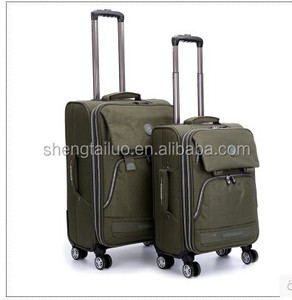 top quality washing cloth trolley luggage -soft trolley suitcase