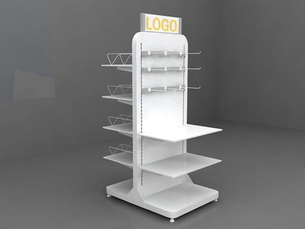 Engros 3-lags Deluxe skærmskab Showcase Glasflasker Display Floor Stand Whisky Display Akrylvin Display Rack
