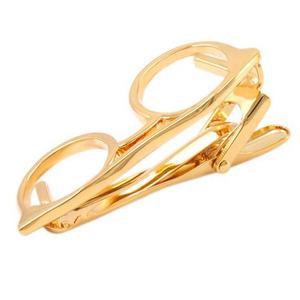 Factory Directly Selling glasses shape Customer Size Tie Bar Clip