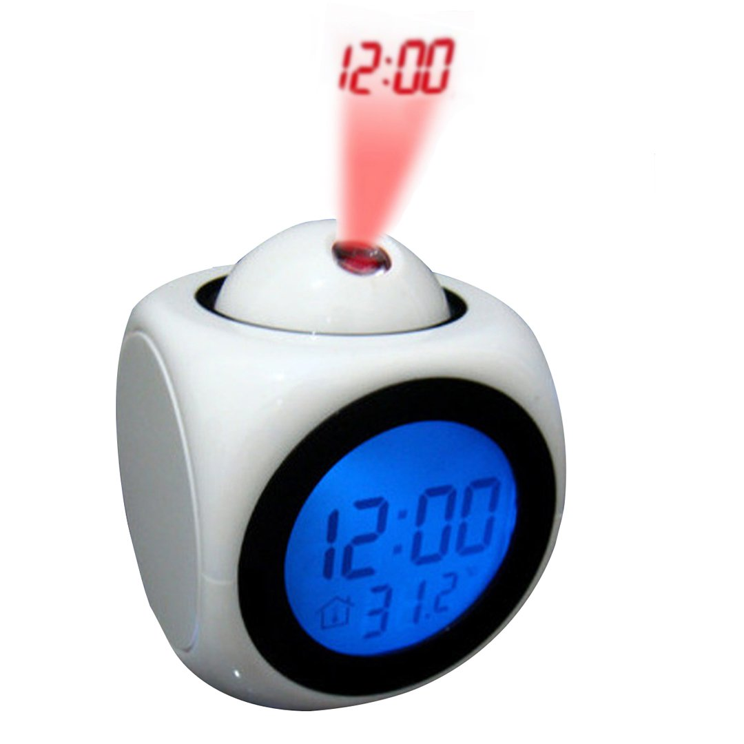 atomic projection alarm clock Save time with weather conditions on your alarm clock home beauty health  skyscan atomic projection clock 31269,  projection alarm clock and weather monitor.