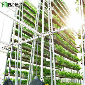 FM low cost commercial greenhouse vertical hydroponic grow systems for sale