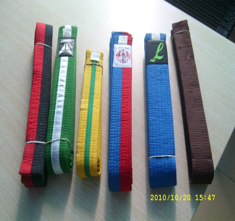 Custom many colors durable bjj hemp belt