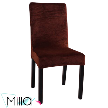 Slipcover Velvet Stretch Chair Cover For Armless Chair