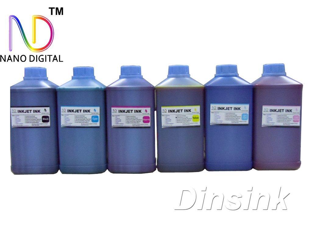 6 x 1 Liter (6x34oz) Bottles of Premium Grade Nano Dye Ink for Epson Printers Stylus Photo RX500/RX600/RX620/R200/R220/R300/R300M/R320/R340/R580/RX595/RX680/R260/R280/R380/1400 and Artisan 50/700/710/800/810 ...