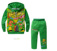 2015 new fashion brand design suits children suit boys and girls suits Teenage Mutant Ninja Turtles