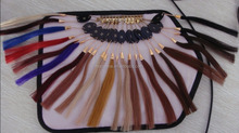 synthetic hair color ring, human hair color chart, hair extension
