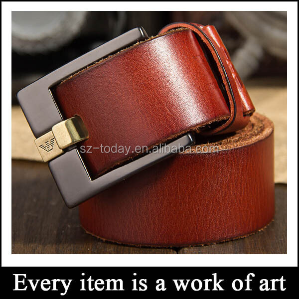 Factory hot sale cowhide italian leather polo belt for men
