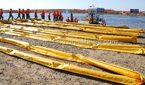 Oil Containment Type Pvc Oil Spill Booms Compactible Pvc Solid ...
