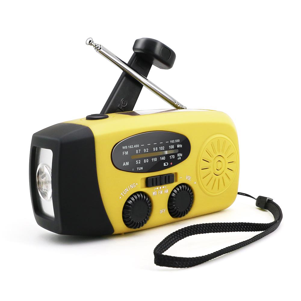 Инструменты для выживания на солнечной батарее NOAA Погодный короткий ремешок ручной аварийный радиофонарик с зарядным устройством для телефона