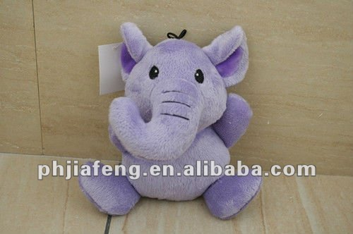 green plush elephant