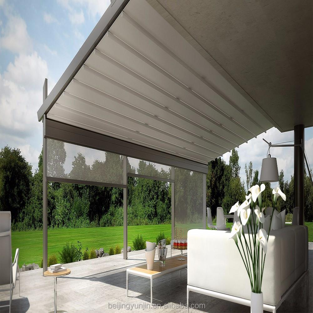 Aluminium Frame Electric Awning Balcony Rain Protection