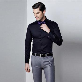 Latest Style Cotton Long Sleeve Man Black Shirt - Buy Man Black Shirt ... 47b9e10c662