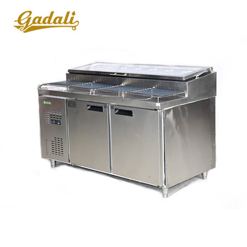 Restaurant counter top salad bar cooler display counter equipment commercial used refrigerated salad bar