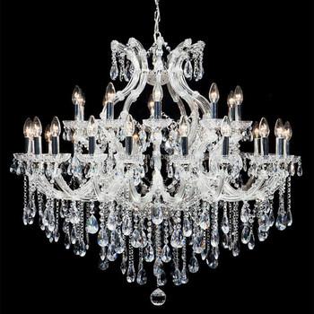 Crystal chandelier light lustres de cristal lustres e pendentes lustres de sa - Lustre pampilles cristal ...