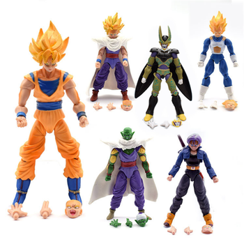 Dragon Ball Z 5 inch action Figures Piccolo Cell Trunks Super Saiyan Goku Gohan Vegeta