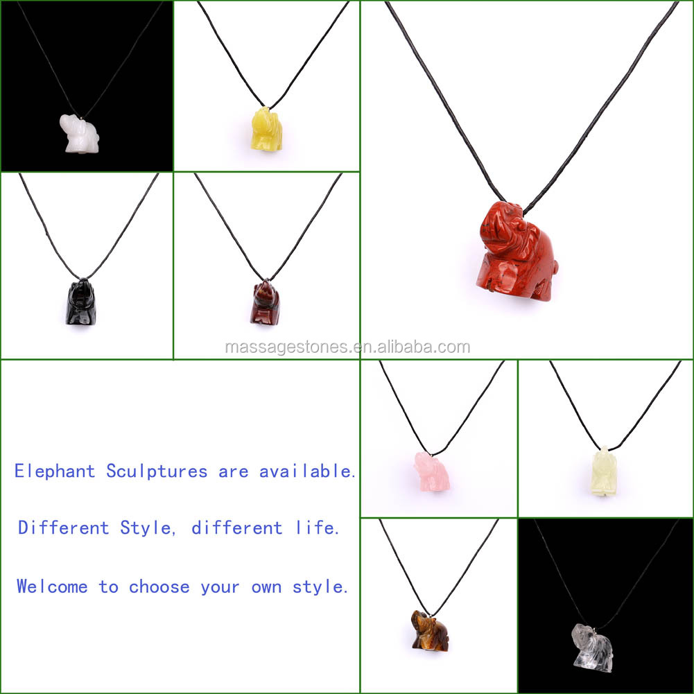 Fashion heart shaped stone pendants charm set China factory wholesale
