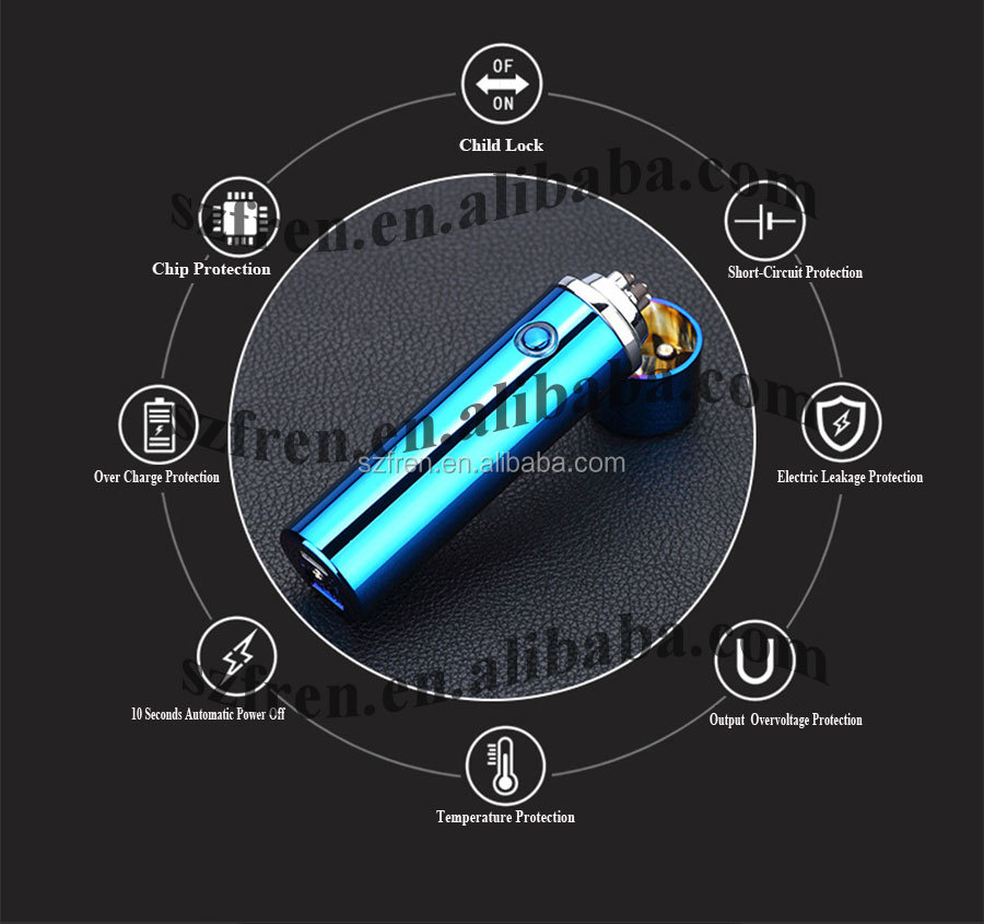 Free sample!! FR-P01 Dual Arc Windproof Electric USB Pipe lighter, Electronic Flameless Cigarette Lighter,