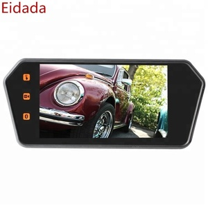 OEM Factory Price 7 inch TFT LCD HD Touch Screen Car Rear View Mirror MP5 Monitor with Bluetooth