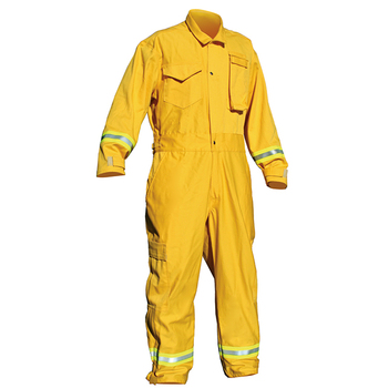 Fire Fighter Suit Manufacturer 6oz Wildland Fire Fighting  Clothing with Silver Yellow Silver Reflector