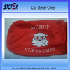Custom Santa car mirror flag cover for Christmas