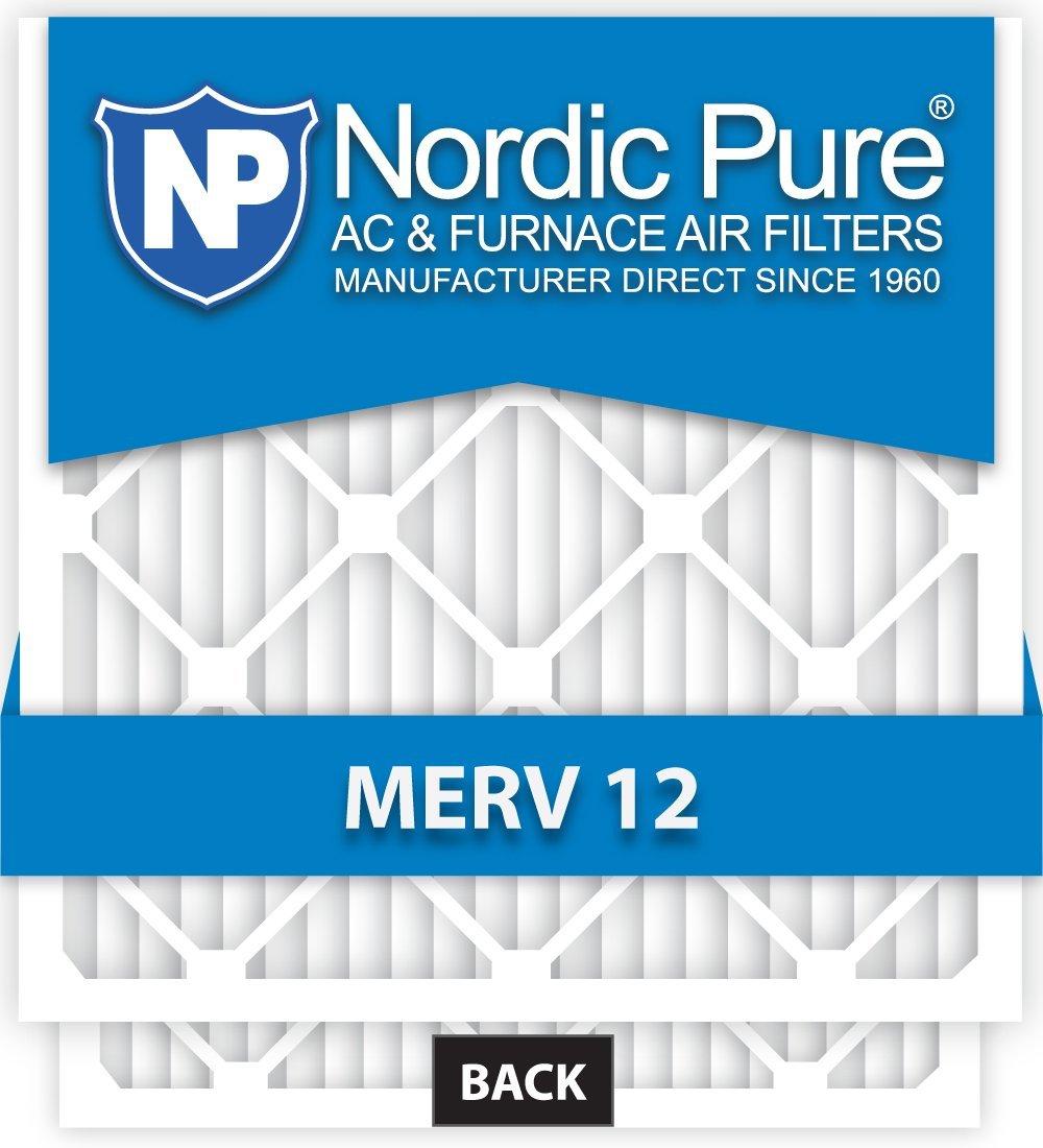 Nordic Pure 16x25x_1/2_M12-12 1/2-Inch Air Filter MERV 12, Box of 12
