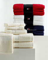 Luxury White/Red/Black Cotton Towels