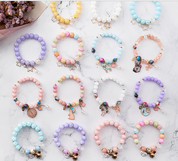 Young Custom Charm Stretch Bead Bracelets Candy Gl Cute Summer Cool
