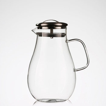 High Borosilicate Glass Water Pitcherbeverage Carafe With Stainless