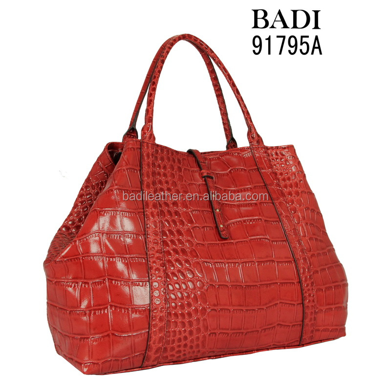 Lady leather bag crocodile leather waterproof women handbags from thailand