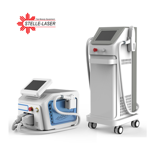 2 handpieces 808 Diode laser + ipl photo photofacial rejuvenation laser hair removal machine