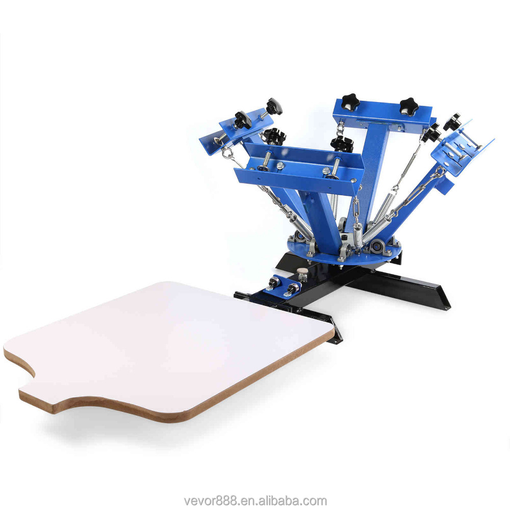 2018 Hot Sale 4 Color 1 Station Silk Screen Printing Machine for T-shirt Silk Screen Printer