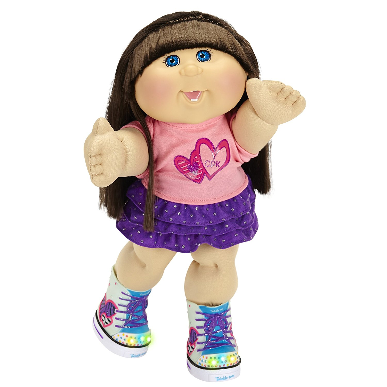 Cabbage Patch Kids Twinkle Toes: Caucasian Girl Doll, Brunette, Blue Eyes