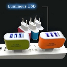 3.1A EU US 3 Ports USB Charger 3A Portable Mobile Phone Chargers Travel Wall Charger for iphone for samsung