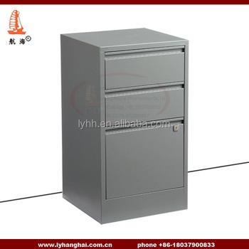 hospital equipement single column short nightstand storage cabinet 3 drawer metal file cabinet