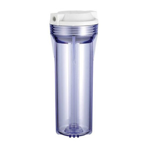 10 inch clear white Polypropylene water purifier filter cartridge housing