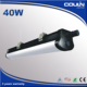 Coulin Epistar SMD2835 40W 1200mm 4ft black P65 fixture led tri-proof light