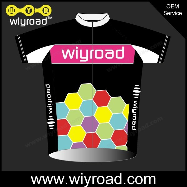 Custom service pink cycling jersey,women cycling jersey black,funny bike jerseys with very good price