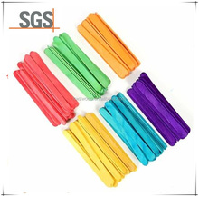 2017 High Quanlity wooden Ice Cream Sticks and with colour Ice Cream Sticks