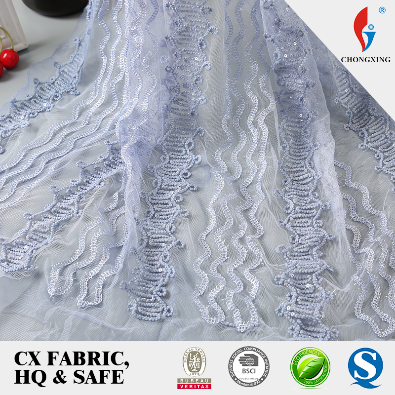A2739 new design 2018 embroidery with ribbons mesh fabrics for dress